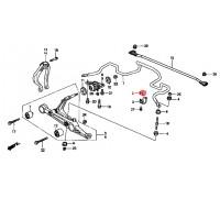 44, втулка переднего стабилизатора подвесная, , 120 р., 51306-SR3-010, Honda Motor Co., ВТУЛКИ И САЙЛЕНТБЛОКИ