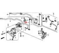 10, втулка переднего стабилизатора подвесная, , 300 р., 51306-SWA-A01, Honda Motor Co., ПЕРЕДНЯЯ ОСЬ