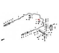 9, втулка переднего стабилизатора подвесная, , 510 р., 51306-SX0-003, Honda Motor Co., ПЕРЕДНЯЯ ОСЬ