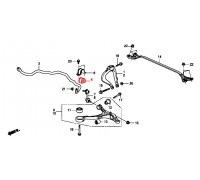 95, втулка переднего стабилизатора подвесная правая, , 599 р., 51306-TL0-G01, Honda Motor Co., ПЕРЕДНЯЯ ОСЬ