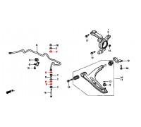 60, втулка передней стойки стабилизатора полиуретановая, , 240 р., 51314-S47-000, Точка опоры, ВТУЛКИ И САЙЛЕНТБЛОКИ