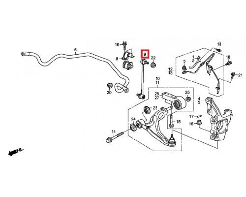 стойка стабилизатора переднего