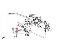 787, с/блок переднего нижнего рычага передний, , 590 р., 51391-S5A-024, VTR, ПЕРЕДНЯЯ ОСЬ