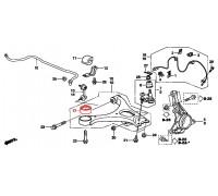 с/блок переднего нижнего рычага передний
