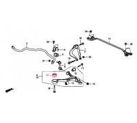 74, с/блок переднего нижнего рычага передний, , 890 р., 51391-TA0-A01, AUTOLYNX, ПЕРЕДНЯЯ ОСЬ