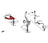 25, верхний передний рычаг левый, , 8 400 р., 51520-TP6-A01, HONDA, ПЕРЕДНЯЯ ОСЬ
