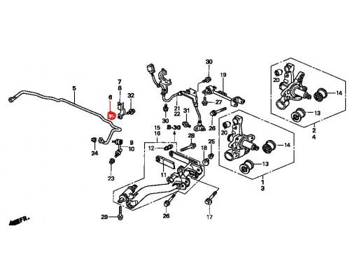 втулка заднего стабилизатора подвесная