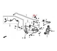 869, втулка заднего стабилизатора подвесная, , 330 р., 52306-SWA-A01, Honda Motor Co., ЗАДНЯЯ ОСЬ