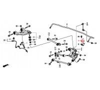 90, втулка заднего стабилизатора подвесная, , 660 р., 52306-TA1-A02, Honda Motor Co., ЗАДНЯЯ ОСЬ
