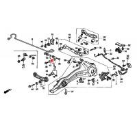 1680, втулка задней стойки стабилизатора нижняя, , 180 р., 52314-SK3-000RBI, RBI, ВТУЛКИ И САЙЛЕНТБЛОКИ