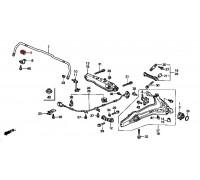 1709, втулка заднего стабилизатора подвесная для праворульных, , 360 р., 52315-S10-023, Honda Motor Co., ВТУЛКИ И САЙЛЕНТБЛОКИ