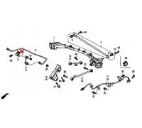 875, втулка заднего стабилизатора подвесная, , 330 р., 52315-S2H-003*3, Honda Motor Co., ЗАДНЯЯ ОСЬ