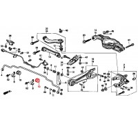 880, втулка заднего стабилизатора подвесная, , 510 р., 52315-S3N-901, Honda Motor Co., ВТУЛКИ И САЙЛЕНТБЛОКИ
