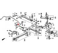 888, втулка заднего стабилизатора подвесная, , 330 р., 52315-SS0-010, Honda Motor Co., ВТУЛКИ И САЙЛЕНТБЛОКИ