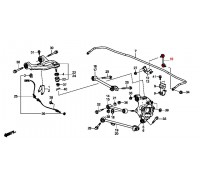 1869, стойка стабилизатора задняя левая, , 790 р., 52325-TP6-A01, CTR, ЗАДНЯЯ ОСЬ