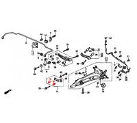 1781, с/блок заднего рычага схождения, , 480 р., 52343-SK7-003RBI, RBI, ЗАДНЯЯ ОСЬ