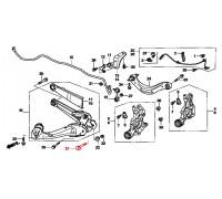 1575, болт заднего продольного рычага, , 690 р., 52387-SNA-A00, Honda Motor Co., ЗАДНЯЯ ОСЬ