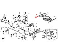 951, болт регулировки схождения, , 690 р., 52387-SX0-003, Honda Motor Co., БОЛТЫ ПОДВЕСКИ