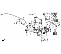 1624, шайба регулировочного болта задней подвески, , 290 р., 52388-S84-A00, Honda Motor Co., ЗАДНЯЯ ОСЬ