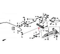 972, с/блок заднего амортизатора, , 299 р., 52622-SH3-013, RBI, ВТУЛКИ И САЙЛЕНТБЛОКИ