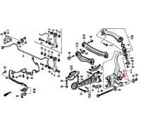 974, с/блок заднего амортизатора, , 1 080 р., 52622-SN7-003, Honda Motor Co., ВТУЛКИ И САЙЛЕНТБЛОКИ