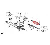 1583, пыльник рулевой рейки левый, , 690 р., 53534-SNA-A01, Honda Motor Co., РУЛЕВОЕ УПРАВЛЕНИЕ