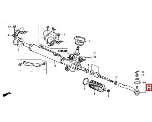 наконечник рулевой тяги левый