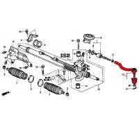 1036, наконечник рулевой тяги левый, , 660 р., 53560-SDA-A01, GMB, РУЛЕВОЕ УПРАВЛЕНИЕ