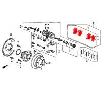 134, колодки тормозные задние комплект, , 1 190 р., 43022-SEA-E10, AKYOTO, ЗАДНЯЯ ОСЬ