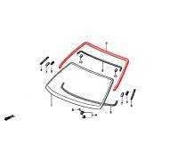 1168, молдинг лобового стекла для хэтчбека, , 4 560 р., 73150-S03-013, Honda Motor Co., ЖЕЛЕЗО И ВНЕШНИЙ ПЛАСТИК