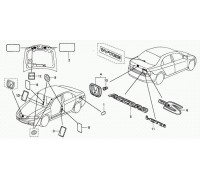 1716, эмблема на багажник , , 2 490 р., 75731-S3M-A10, Honda Motor Co., ЖЕЛЕЗО И ВНЕШНИЙ ПЛАСТИК