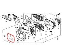 1463, зеркальный элемент правый с подогревом, , 3 990 р., 76203-SWW-E31, Honda Motor Co., ЗЕРКАЛА