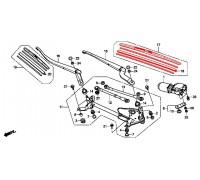 1698, щётка стеклоочистителя водительская, , 1 800 р., 76620-TP6-A01, HONDA, СТЕКЛООЧИСТИТЕЛЬ