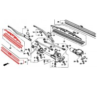 1992, щетка (пассажирская сторона), , 1 650 р., 76630-TL0-G01, Honda Motor Co., СТЕКЛООЧИСТИТЕЛЬ