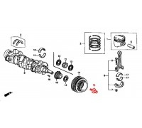 1442, болт коленвала, , 1 390 р., 90017-PR3-003, Honda Motor Co., ДЕТАЛИ ДВИГАТЕЛЯ