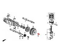 1443, болт коленвала, , 1 200 р., 90017-PT0-003, Honda Motor Co., ПОРШНЕВАЯ И ДЕТАЛИ КОЛЕНВАЛА