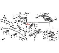 1278, болт заднего продольного рычага, , 570 р., 90118-S0A-000, Honda Motor Co., БОЛТЫ ПОДВЕСКИ