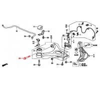 1563, болт переднего нижнего рычага, , 290 р., 90118-SNA-000, Honda Motor Co., ПЕРЕДНЯЯ ОСЬ