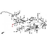 1280, болт задней стойки стабилизатора нижний, , 180 р., 90120-SB0-003, Honda Motor Co., БОЛТЫ ПОДВЕСКИ