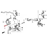 1619, болт переднего амортизатора, , 630 р., 90121-S0A-000, Honda Motor Co., ПЕРЕДНЯЯ ОСЬ