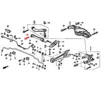 1281, болт заднего нижнего рычага, , 690 р., 90170-SX0-003, Honda Motor Co., БОЛТЫ ПОДВЕСКИ
