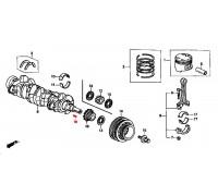 1316, шпонка коленвала, , 240 р., 90704-634-000, Honda Motor Co., ПОРШНЕВАЯ И ДЕТАЛИ КОЛЕНВАЛА