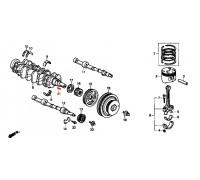 1317, шпонка коленвала Honda, , 450 р., 90704-PT0-000, Honda Motor Co., ПОРШНЕВАЯ И ДЕТАЛИ КОЛЕНВАЛА