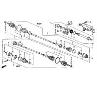1715, подшипник привода опорный, , 1 250 р., 91057-SR3-008, Honda Motor Co., ШРУС