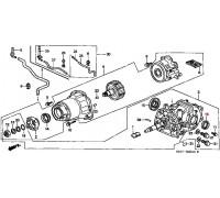 1319, сальник редуктора заднего моста, , 630 р., 91203-P6R-003, Honda Motor Co., ЗАДНЯЯ ОСЬ