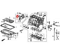 1377, сальник коленвала задний Honda, , 390 р., 91214-PLE-003, STONE, ДЕТАЛИ ДВИГАТЕЛЯ