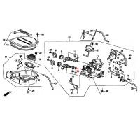 1472, прокладка форсунки моновпрыска нижняя, , 270 р., 91303-PM5-A02, Honda Motor Co., ПРОКЛАДКИ ДВИГАТЕЛЯ