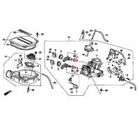 1473, прокладка форсунки моновпрыска средняя, , 600 р., 91304-PM5-A02, Honda Motor Co., ПРОКЛАДКИ ДВИГАТЕЛЯ