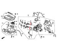 1474, прокладка форсунки моновпрыска верхняя, , 570 р., 91305-PM5-A02, Honda Motor Co., ПРОКЛАДКИ ДВИГАТЕЛЯ