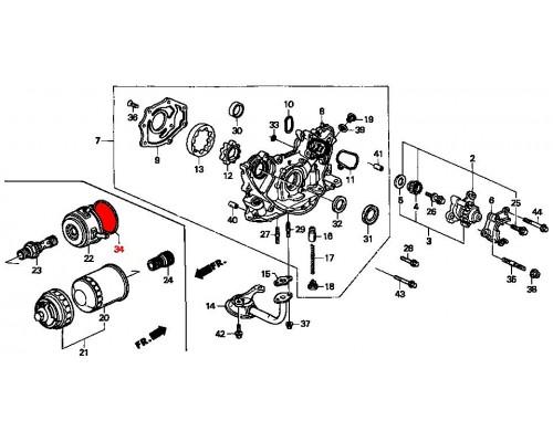 прокладка маслоохладителя Honda